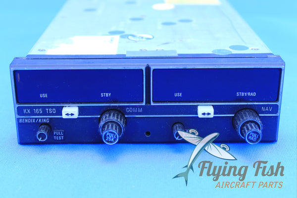 Bendix/King KX-165 Nav/Com Receiver 28V w/ 8130 & Tray P/N: 069-1025-25 (20794)