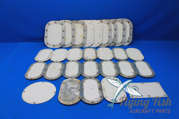 Lot of Mooney M20D Inspection Panels P/N: 913011-501 , 913000-501 (20981)