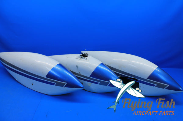 Cessna 172 Aircraft Set of 3 RH LH Nose Metal Wheel Pant Fairings (19921)