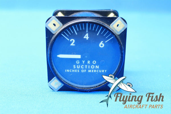 Airbourne Mfg Co Aircraft Gyro Suction Gauge P/N 1G10-1 550-545 (18985)