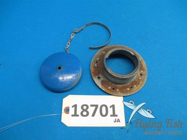 Cessna 310 Left Fuel Tip Tank Gas Cap Filler Neck 0823300-13 0823300-14 (18701)