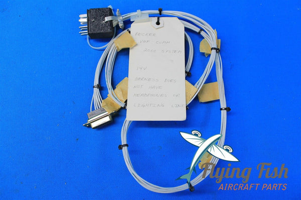 Becker VHF Comm 2000 14 VDC Test Set Adapter Connector Harness (19294)