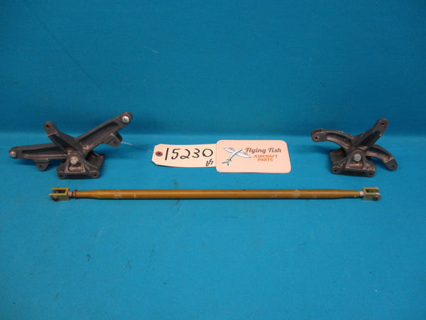 Beechcraft 1964 Baron 95-B55 Rudder Pedal Bellcrank & Supports 35-524136 (15230)