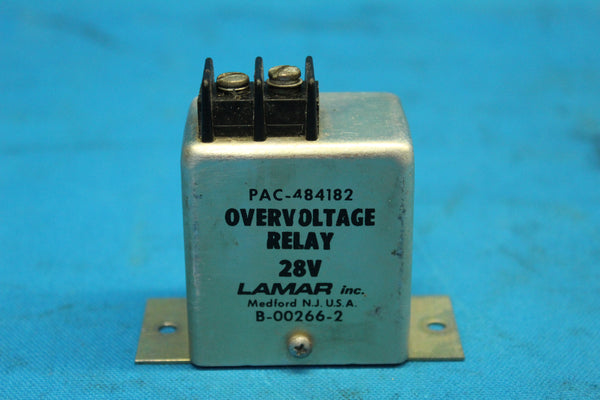 Piper Lamar Inc. Over Voltage Relay P/N: B-00266-2 (26176)