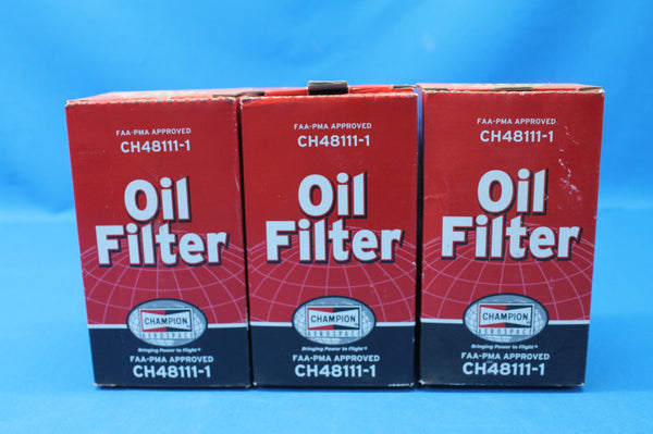 Lot of 3 Champion Oil Filter P/N: CH48111-1 3/4 - 16 (26653)