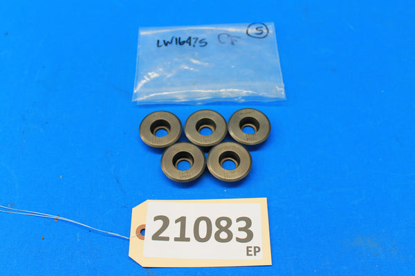 Set of 5 Lycoming Valve Spring Seats - Upper Exhaust P/N: 73115, LW16475 (21083)