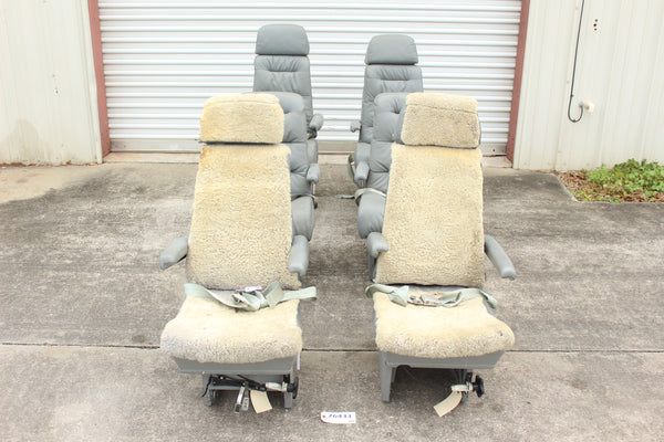 Set of 6 Aerostar 601P Aircraft Seats (26433)