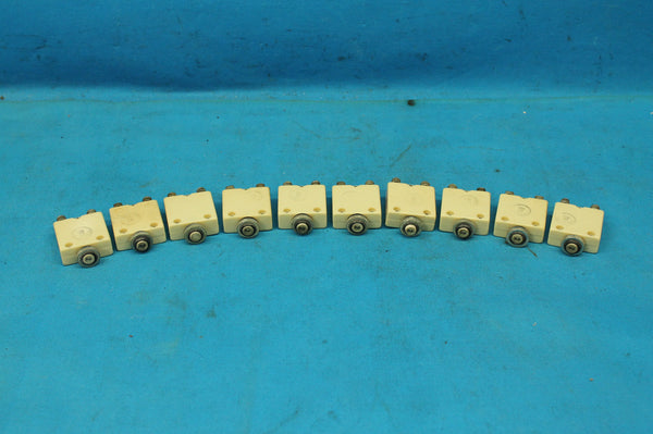 Lot of 10 Mechanical Products 2 Amp Circuit Breakers P/N: MP-1601K-2 (25216)