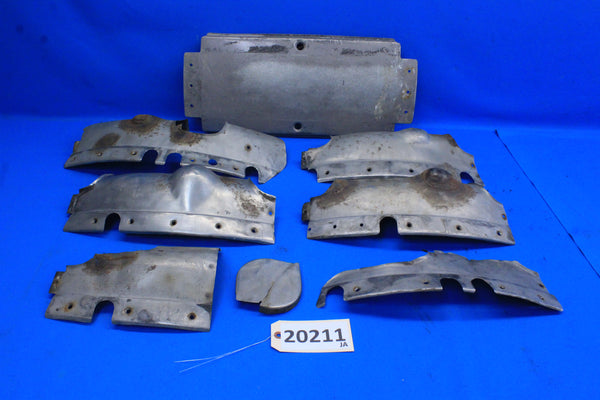 Stearman Stainless Steel Exhaust Shroud Lot A75J1-2307 A75J1-2304 (20211)
