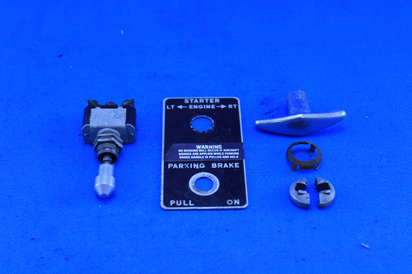 Piper PA-23-160 Starter & Parking Brake Handle w/ Placard P/N: 487-811 (21391)