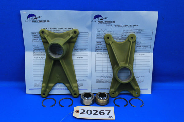 Piper Left Gear Forward & Rear Trunnion Fittings 20757-00 , 20393-00 (20267)