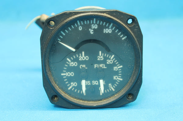 Aircraft Dual Oil Fuel Indicator P/N: 4134489-A (25636)