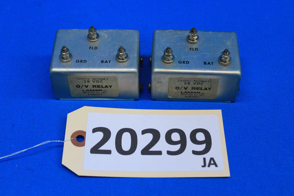 Lamar Cessna Overvoltage Relay B-00333-1 9910068-2 Lot of 2 (20299)