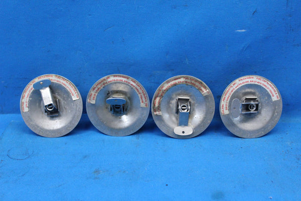 Lot of 4 Piper PA-23-250 Aztec PMA Products Gas Fuel Caps P/N: CA16097N (25476)