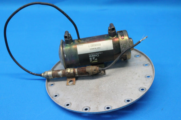 Cessna Textron Fuel Pump with Mounting Plate P/N: 6508092-1 Cessna 402B (26224)