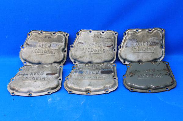 Set of 6 Avco Lycoming Rocker Box Covers P/N: 72242 (21509)