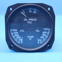 AID RC Allen Triple Engine Indicator Gauge P/N 18-1002-1 (22528)