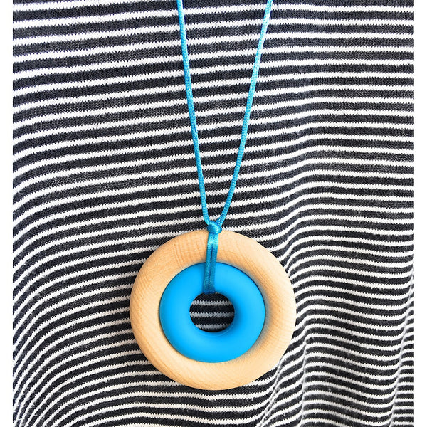 Organic Maple and Silicone Teething Necklace