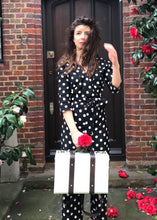 Bespoke Polka Dot Jumpsuit with Plunging Neckline