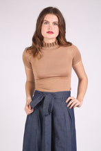 High Waist Denim Wide Leg Culottes with Pleats