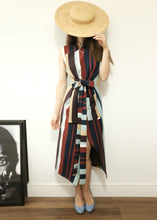 Bespoke Stripes Asymmetric Trench Dress