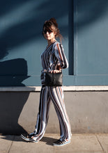 Bespoke Stripes Jumpsuit with Plunging Neckline