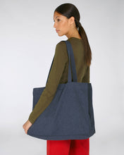 Navy Recycled Oversized Tote Bag
