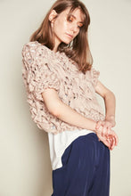 Beige Lycra Chunky Hand Knit Jumper - One Size / Nude - Tops & Shirts