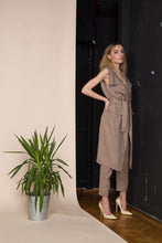 Brown Linen Trousers And Vest Co Ordinates - Jumpsuits &
