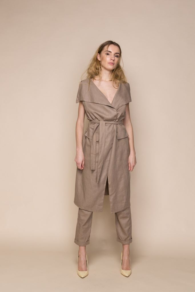 Brown Linen Trousers And Vest Co Ordinates - S / Brown - Jumpsuits &