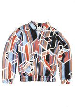 Geometric Print Bomber Jacket - Jackets & Vests