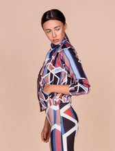 Geometric Print Bomber Jacket - S / Multi - Jackets & Vests