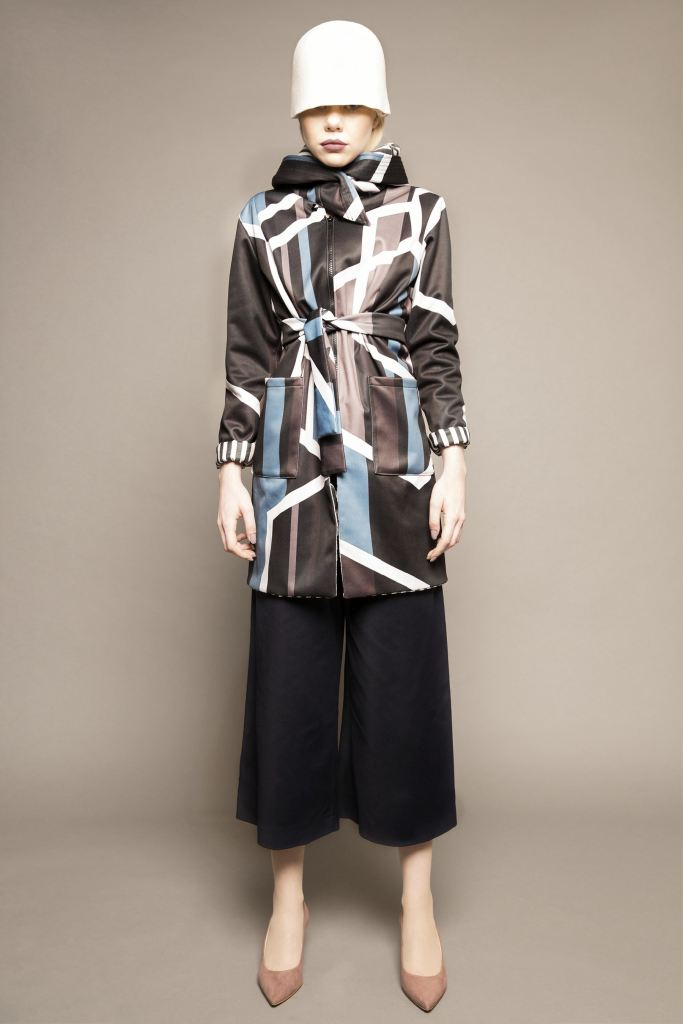 Long Geometric Print Jacket - S / Multi - Jackets & Vests