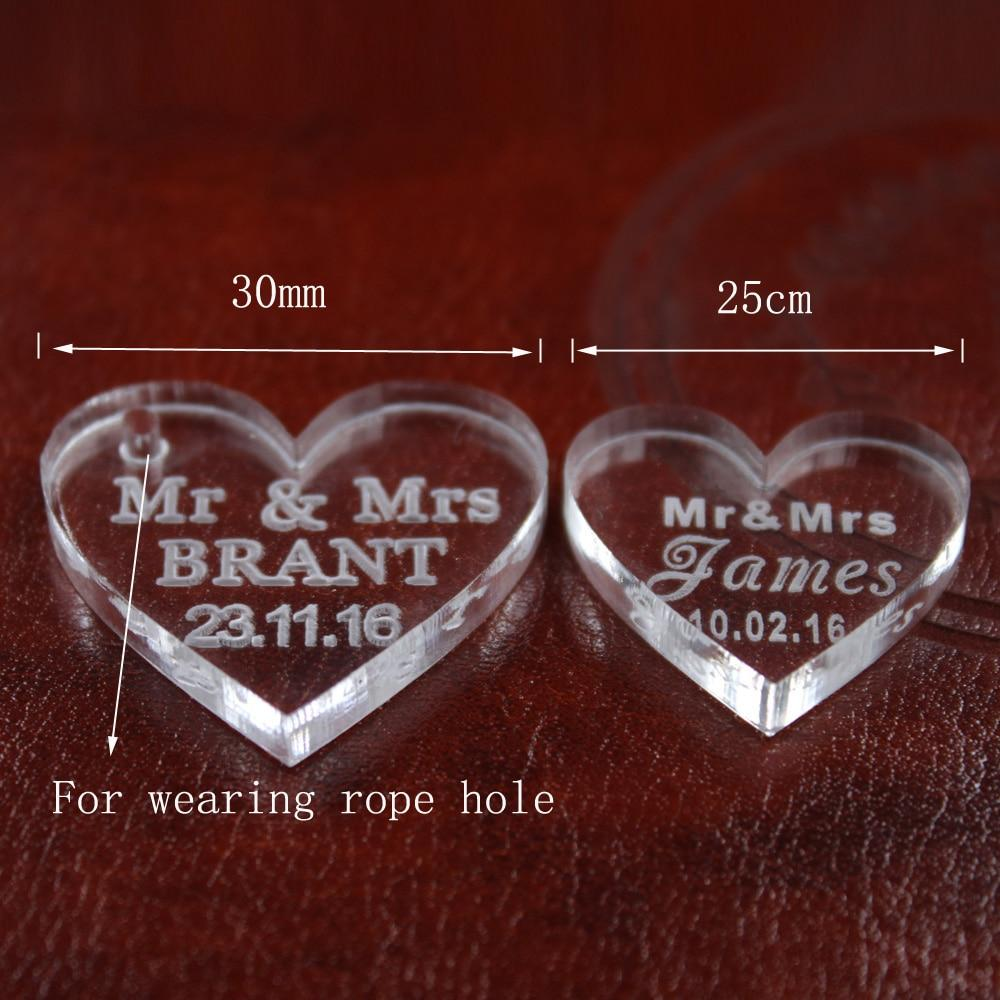 Wedding Gifts Store: 50 Pcs CUSTOM HEARTS AFTER WEDDING GIFTS