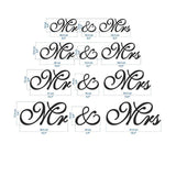 MR AND MRS WEDDING DECORATION - The Suggestion Store