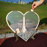 Hearts Unique Wedding Mr Mrs Guest Book - The Suggestion Store
