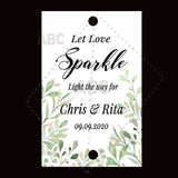 Wedding sparklers Tags personalized