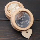 Custom Ring Bearer Box Initials & Date - The Suggestion Store