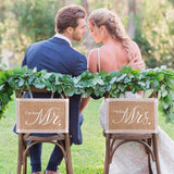 Mr and Mrs chair signs - The Suggestion Store