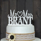 CUSTOM WEDDING CAKE TOPPER PERSONALIZED WITH YOUR LAST NAME - The Suggestion Store