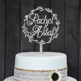 CUSTOM WEDDING CAKE TOPPER PERSONALIZED WITH YOUR NAMES - The Suggestion Store