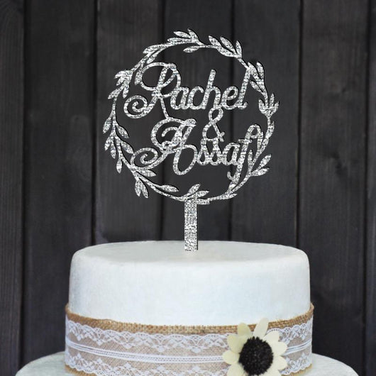 CUSTOM WEDDING CAKE TOPPER PERSONALIZED WITH YOUR NAMES