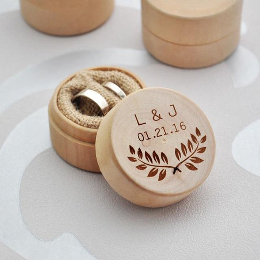 CUTE CUSTOM WEDDING RING BOX - The Suggestion Store