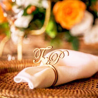 Personalized Napkin Ring with Heart 50pcs - The Suggestion Store