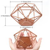 Modern Wedding Table Decoration Copper Geometric Holder - The Suggestion Store