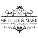 Wedding Floor Vinyl Sticker, Party Decor Custom Name & Date - The Suggestion Store