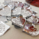 50 pcs CUSTOM MIRROR HEARTS AFTER WEDDING GIFTS - The Suggestion Store