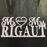 Wedding Centerpiece Decoration Custom MR & MRS And Date - The Suggestion Store