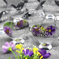 Custom Wedding Silver Mirror Place Setting Name Plaques - The Suggestion Store