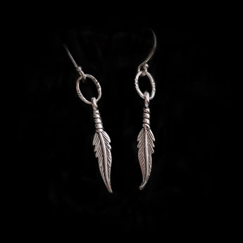 Reclaimed Sterling Silver Feather Earrings